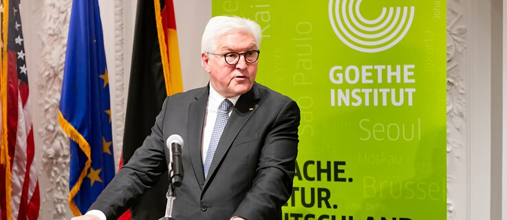 President of the Federal Republic of Germany during his speech at the Goethe-Institut Boston