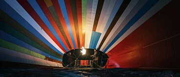 "A hot air balloon is prepared for flight in German film ""Balloon"""