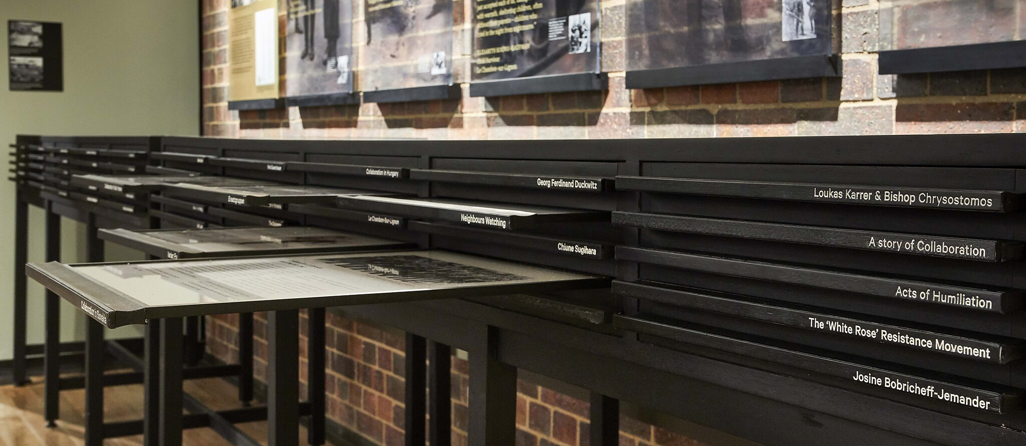 Choices and Dilemmas – 50 drawers tell stories of perpetrators, bystanders, collaborators, resisters and rescuers.