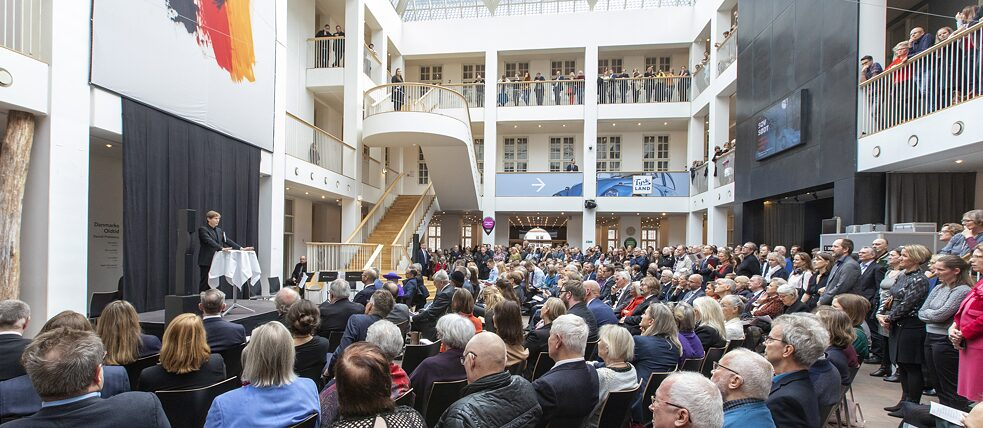 Daniel Kehlmann during his address in the lobby of the National Museum of Denmark