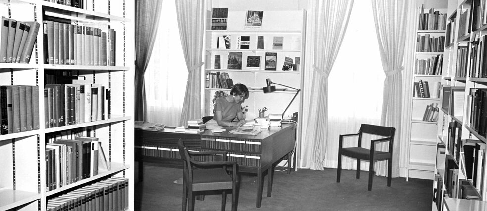 In the library of the Goethe-Institut Boston in 1968