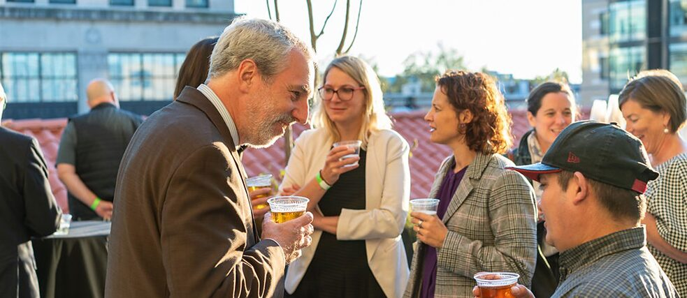 Institute director Andreas Ströhl on the roof terrace of the new Goethe-Institut Washington