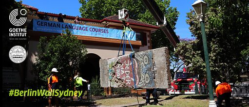 Berlin Wall installed at Goethe-Institut in Sydney