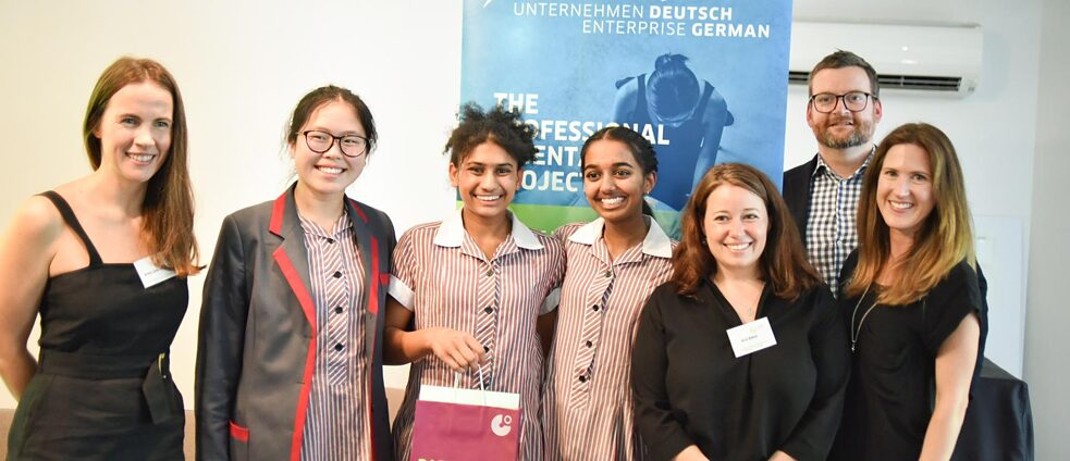 "Organisers and winners of this year's Australian edition of ""Enterprise German"""