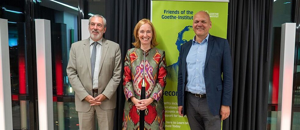 Secretary-general Johannes Ebert in Washington with German ambassador Emily Haber and Goethe Institute director Andreas Ströhl