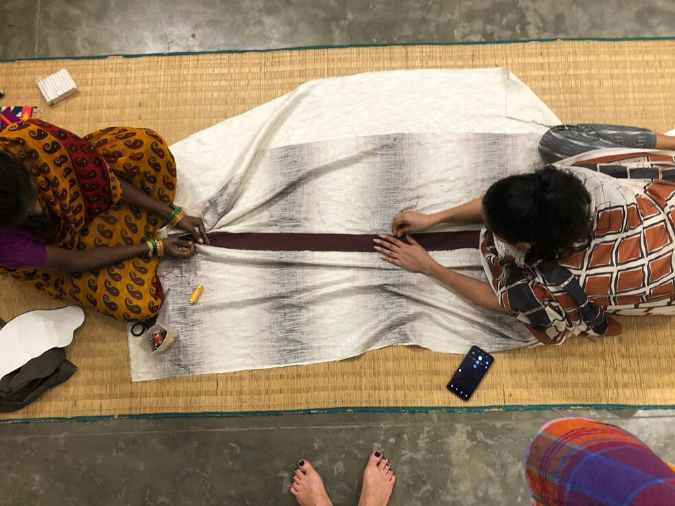 Collaborating stitching in 1 Shanthi Road