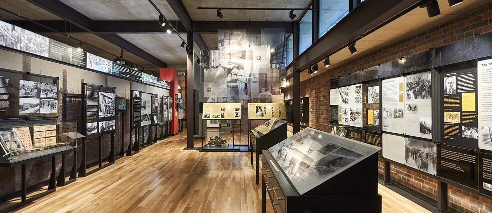 The core exhibition at the JHGC – one of the Holocaust themed spaces.