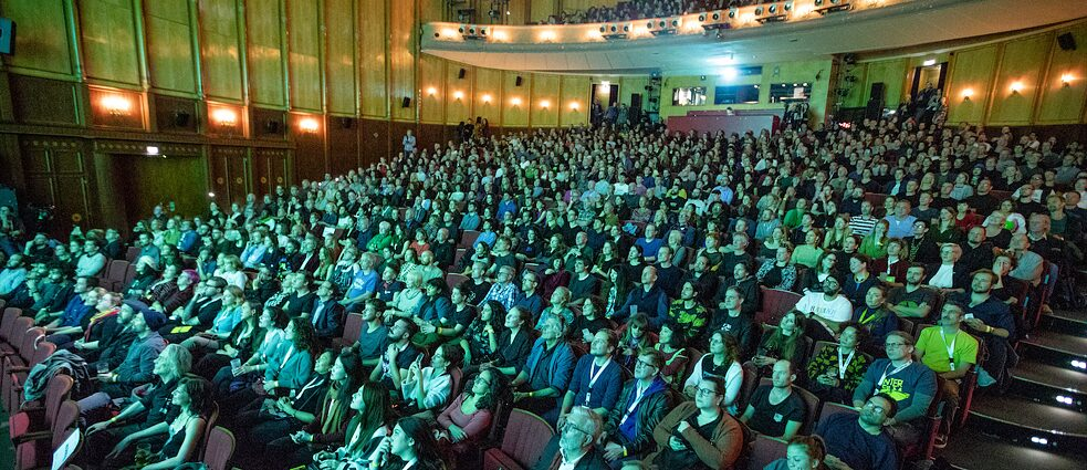 Opening night audience at interfilm Berlin festival