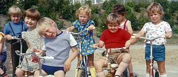Fröbel's educational ideas were well respected in the GDR: children playing in the garden of a day-care centre in Bernau near Berlin in 1978.