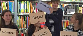 Playing with language: Should we create a Krach-Haus, a Krach-Moment, a Krach-Baum or a Krach-Gedicht?