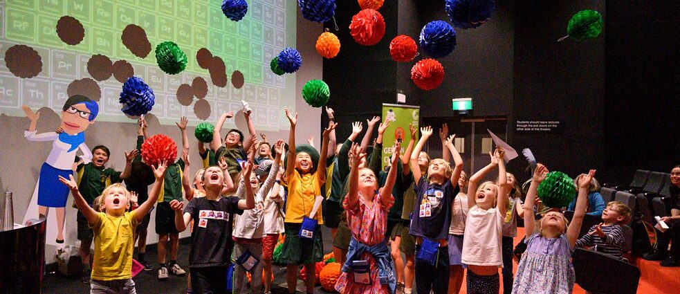 Children take part in the Kinderuni Live event in Melbourne on November 20, 2019