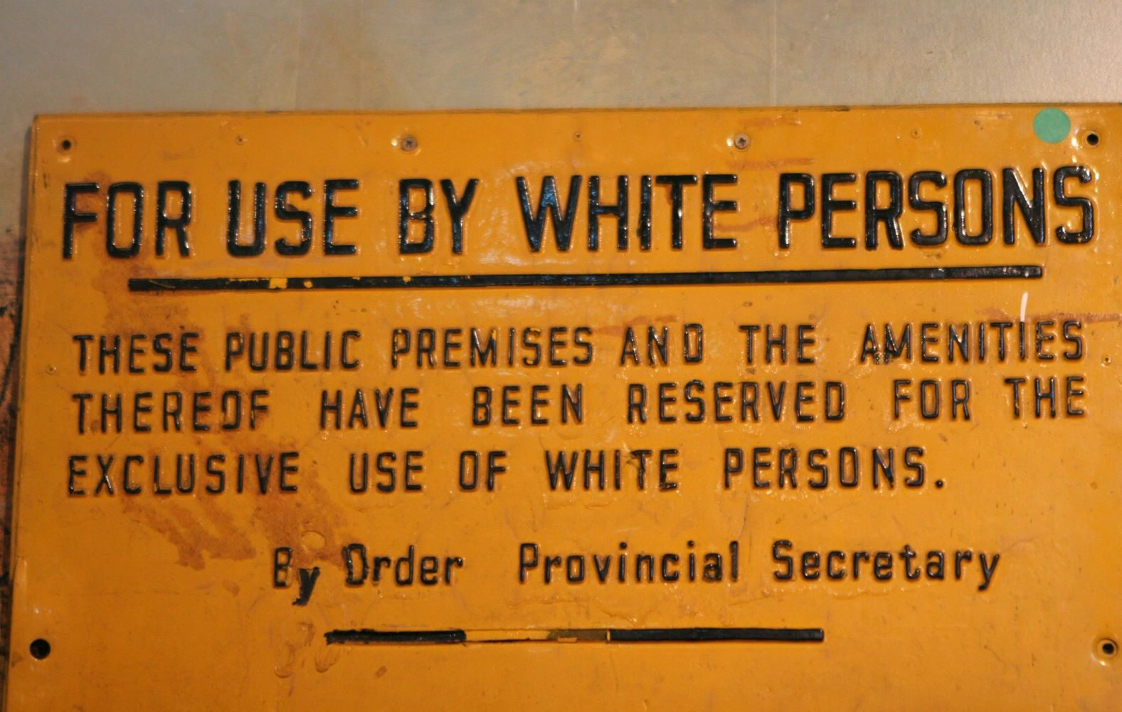 Racial segregation in the District Six museum in Capetown during apartheid.