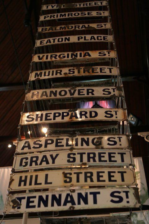 Old street signs in the District Six museum in Capetown. District Six, a mixed-race neighborhood, was declared a white-only area in 1966 and the locals forcefully removed.