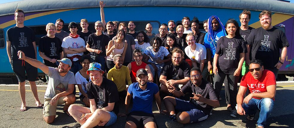 "The participants of the ""Train Jam"""