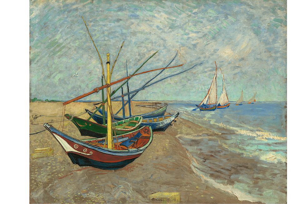 Almost half of the works on display are paintings by Van Gogh.