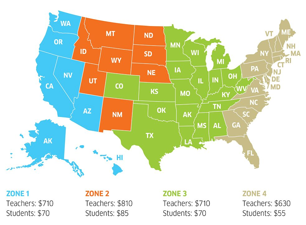 Teacher Grant map