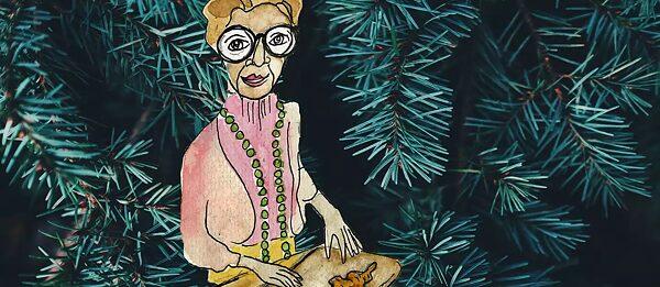 Oma Trude in der Weihnachtszeit