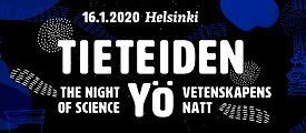 "The logo of this year's ""Night of Science"" in Helsinki/Finland."