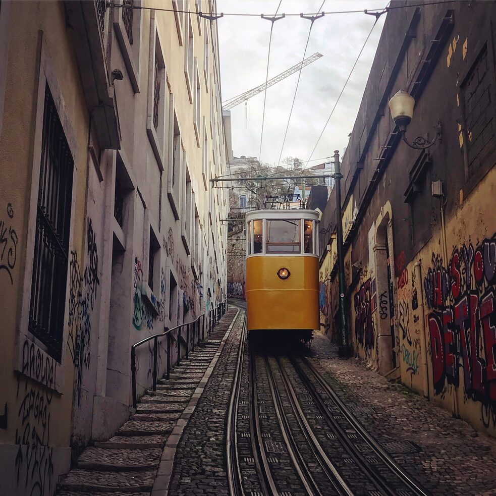 Der Aufzug, Ascensor do Lavra, in Lissabon