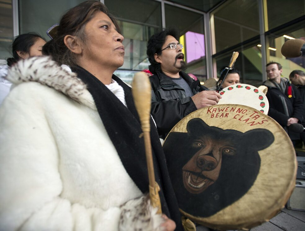 Idle No More: Demonstration in Montreal, 11. Januar 2013