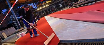 Red carpet davanti al Berlinale Palast