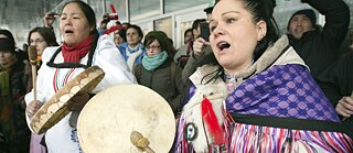 Idle No More: Demonstration in Montreal, 11 January 2013