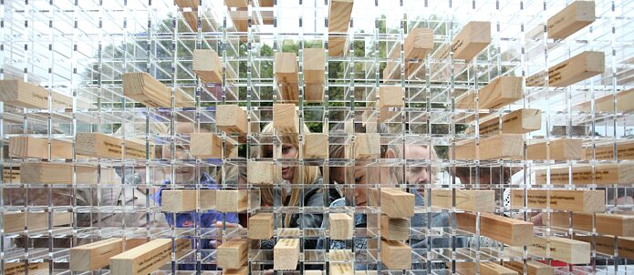"Interactive ""Disappearing Wall"" installation"