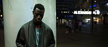 "Photo (Detail) Welket Bungué in ""Berlin Alexanderplatz"",director Burhan Qurbani"
