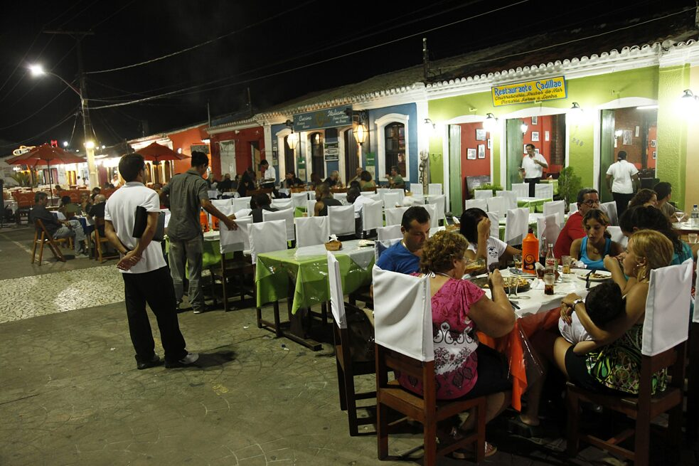 Outdoor restaurants in Porto Seguro, Bahia