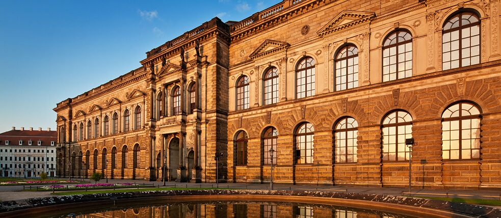 The Semper Gallery was added to the Dresden Zwinger in the middle of the 19th century specifically to house the city's treasured works of art.