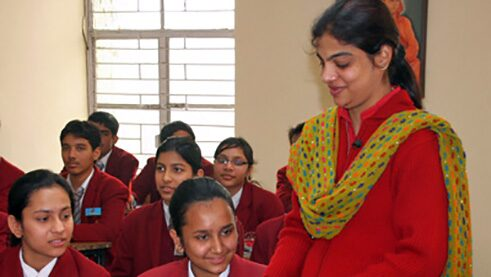 Lesson with school children in New Delhi (Grade 7) © Goethe-Institut; DLL