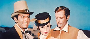 "Henry Fonda, Audrey Hepburn, Mel Ferrer in ""War and peace"", director King Vidor"