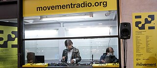 "The ""Movement"" Pop Up radio station."