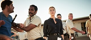 "Scene from Cate Blanchett's TV production ""Stateless"""