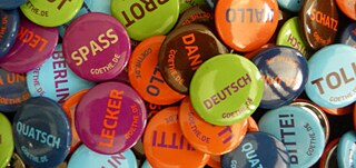 Badges with German Words