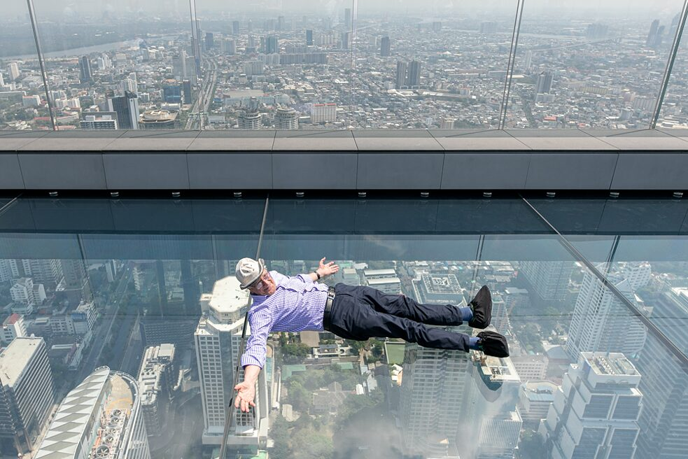 Former director of the Goethe-Institut Thailand, Dr. Anton Regenberg travelled from Germany to get some rest on top of Mahanakhon Tower