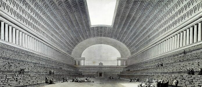 Boullée, Etienne-Louis - Project for a library