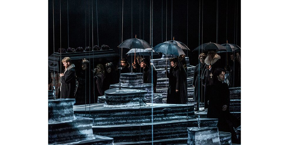 "Staging of ""Peer Gynt"" after Hendrik Ibsen at the National Opera Norway in Oslo. Stage design: Katrin Nottrodt."