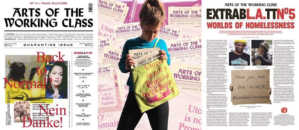 Arts of the Working Class Extrablatt LA: Worlds of Homelessness Titelseite