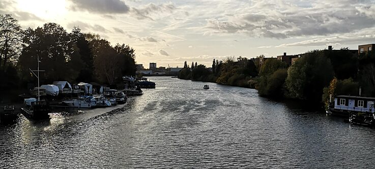 Fluss Bille durch Hamburg