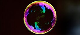 Soap Bubble in different colours
