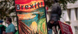 Anti-Brexit poster: Great Britain's exit from the EU means many engaged in the cultural sector longer have access to funding and joint projects.