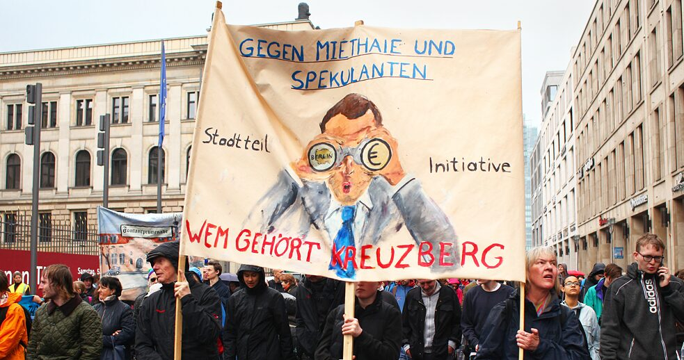 Demonstration in Berlin's Kreuzberg district, 2018.