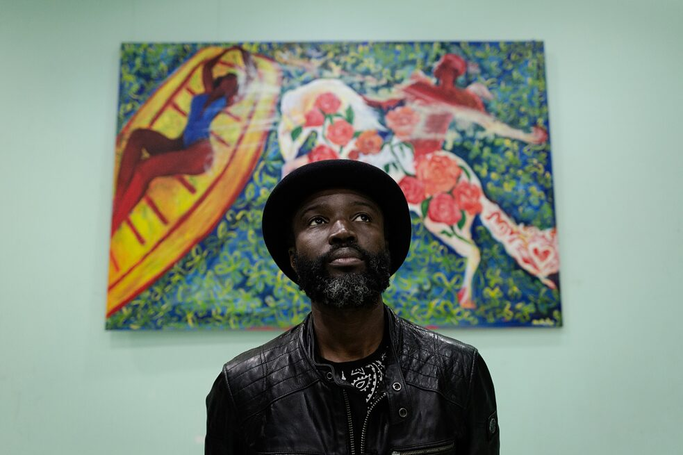 "Decolonisation: Mokodu Fall in his exhibition ""Jardin de l'Amour"""