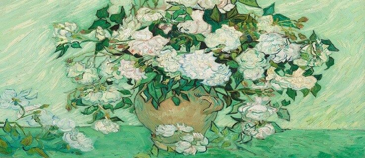 Vincent Van Gogh, Rosen, 1890, Öl auf Leinwand, 71 x 90 cm, National Gallery of Art, Washington D.C. Roses, 1890, Huile sur toile, 71 x 90 cm, National Gallery of Art, Washington D.C.