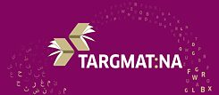 KEY VISUAL Literature plattform targmat:na purple/beige with letters