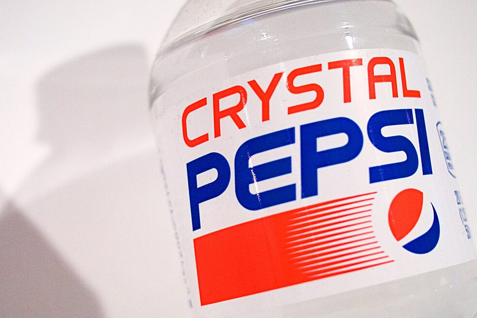 "Crystal Pepsi / 1992–1993 – In the 1990s, marketers were obsessed with the idea of purity. Clear drinks signaled purity and health, so a clear soda seemed to be an excellent bet. With a giant and super expensive advertising campaign, Crystal Pepsi became an instant success. But only for a few weeks. Crystal Pepsi became the iconic failure of the 1990s. The company learned from the mistake: ""It would have been nice if I'd made sure the product tasted good,"" said David Novak, who conceptualized the clear drink. ""Once you have a great idea and you blow it, you don't get a second chance to resurrect it."""