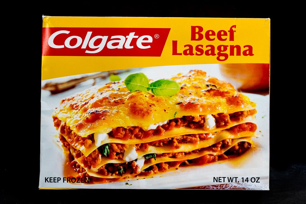 Colgate Frozen Entrees / 1980s – The Museum of Failure believes in research. But their friends at Colgate-Palmolive contend that they are half-baked and have no recollection of their misadventure in frozen foods. MoF feels brand extension is a great idea when the product makes sense: think of a soap company developing a shampoo line. However, when Colgate-Palmolive allegedly decided to get into the microwave entrée game, the public didn't bite. The company may have imagined the pairing as perfect: Colgate Chicken Stir Fry, then brushing your teeth with Colgate Toothpaste. Yum!