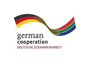 A banner linking the flags of Germany and South Africa together
