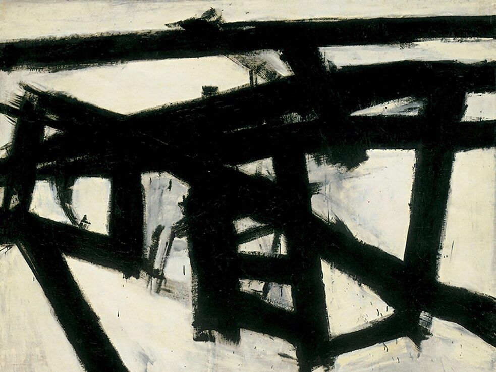 "The Subconscious Art Of Graffiti Removal: Neither Graffiti nor a buff, but rather the Franz Kline Painting ""Mahoning"", 1956. Kline Paintings can only be found in museums or private collections, not in the streets."